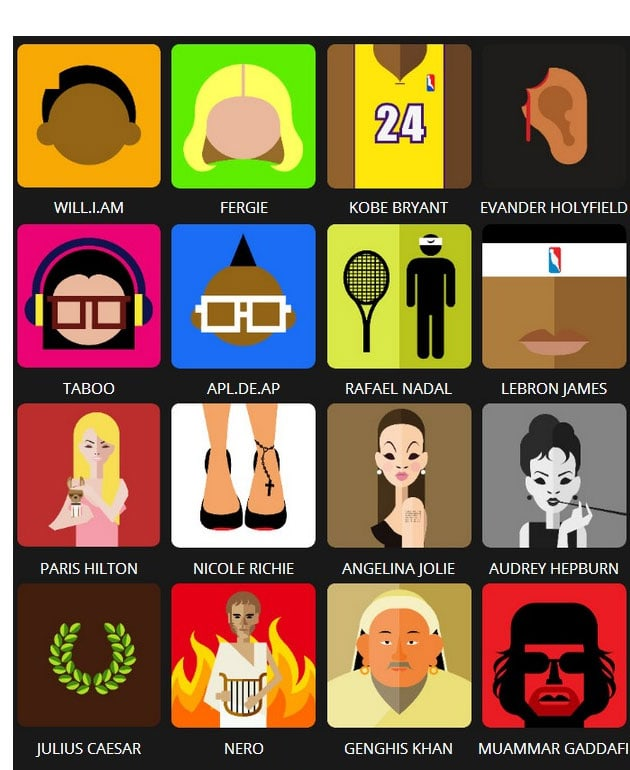 Related Pictures icon pop quiz famous people level 4 answers