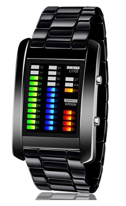 Reloj digital binario devemupohal (resistente al agua)