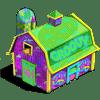 Groovy Barn Categoria: Storage Clase: Storage Coste: 27 Se vende por: 4,000 Tamaño: 8x6 XP: 800
