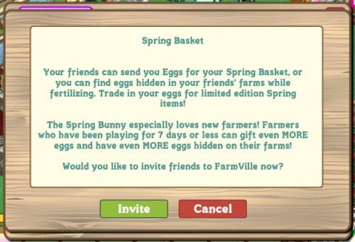 Spring Basket Farmville 2