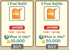 Fuel en el market de Farmville