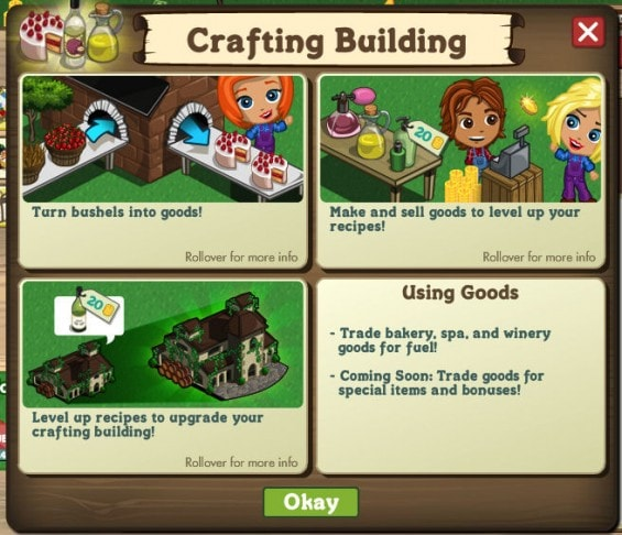 Crafting Buildings farmville