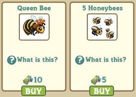 Queen Bee y 5 Honeybees Farmville