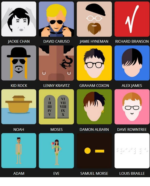 Icon Pop Quiz Answers Famous People Level 7