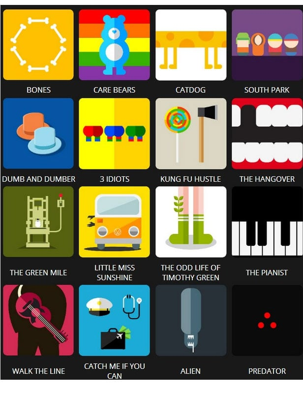 Icon Pop Quiz Answers Tv&Film Level 6
