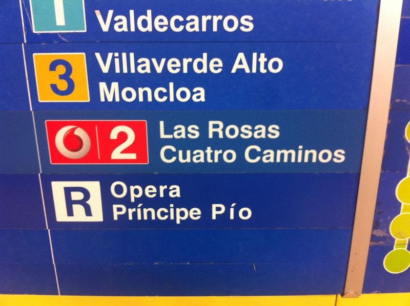 metro de madrid Vodafone