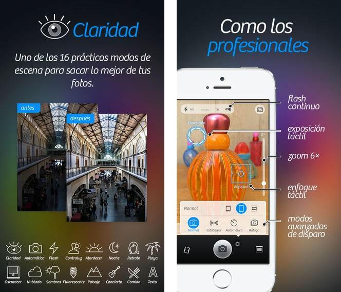 camara+ iphone app