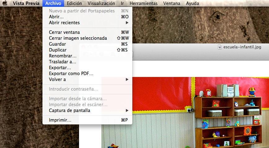 ¿Cómo podemos guardar una foto JPG, BMP o PNG en formato PDF en un Mac?
