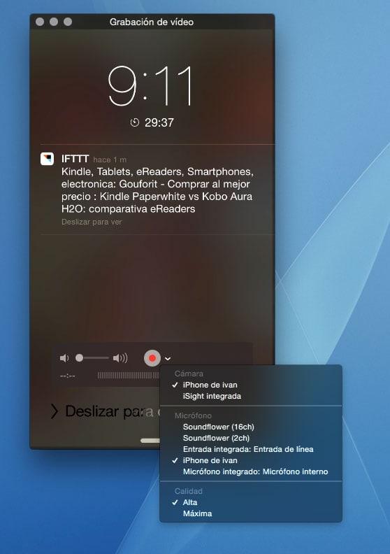 Como grabar un video de la pantalla de tu iPhone, iPad con iOS 8 y tu Mac con OS X Yosemite