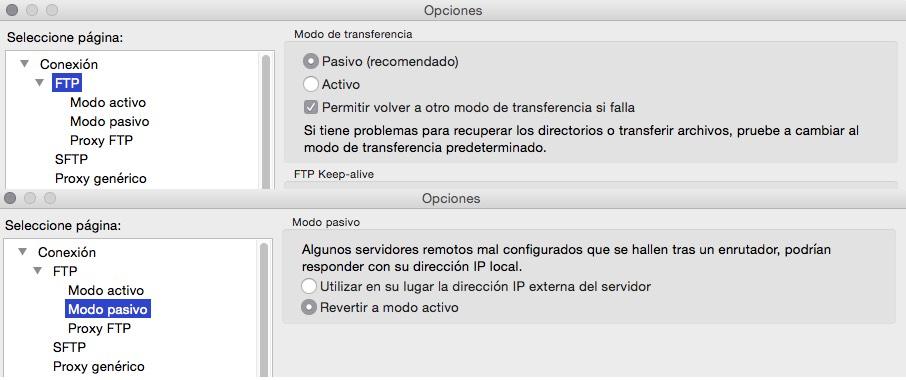 filezilla FTP