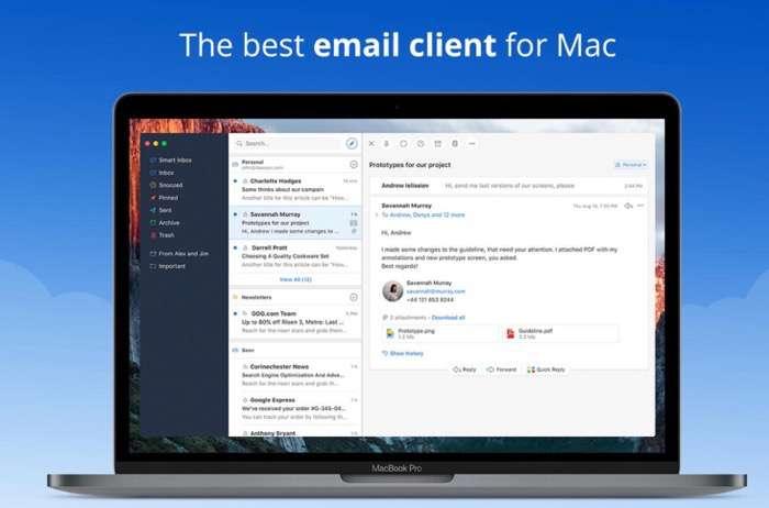 Los mejores programas de correo para MacOS: Spark (gratis)