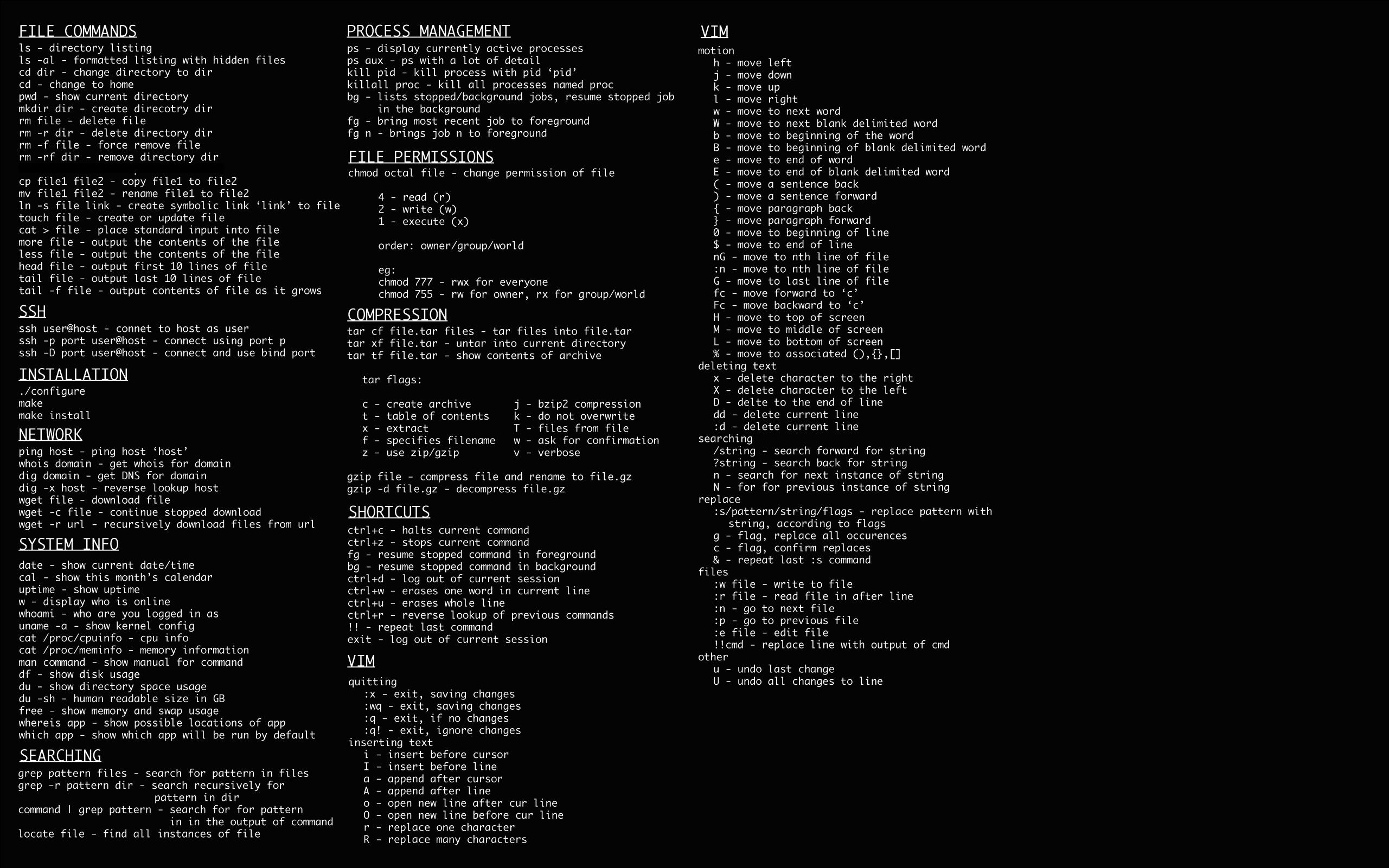 La chuleta definitiva para convertirte en un experto con la línea de comandos de Linux