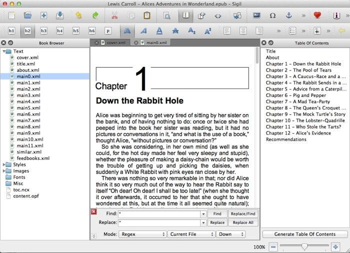 sigil: creador de ebooks