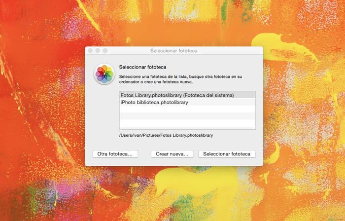 """Cómo crear más de una fototeca -librería de fotos- en """"Fotos"""" (Mac)"""