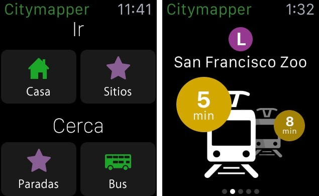 citymapper app Apple Watch