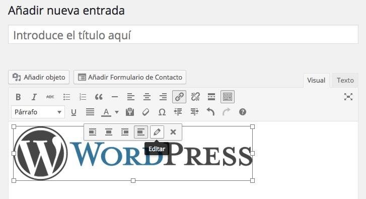 Cómo volver a disponer del menú de edición de fotos en los post en WordPress
