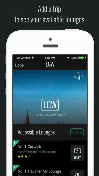 LoungeBuddy - Find and access lounges worldwide app iphone