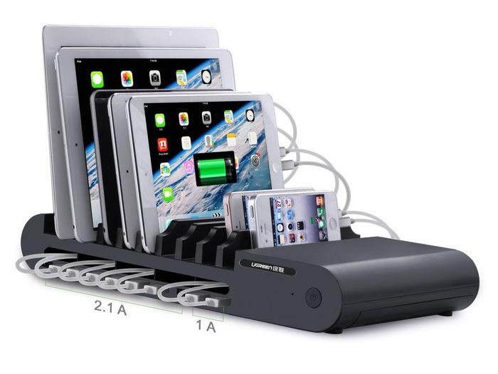 No te lo vas a creer cuando lo veas: estación de carga Ugreen con 10 puertos USB