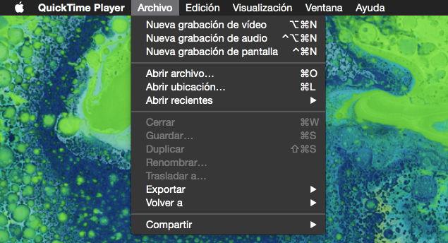 Cómo grabar un vídeo de la pantalla de tu Mac