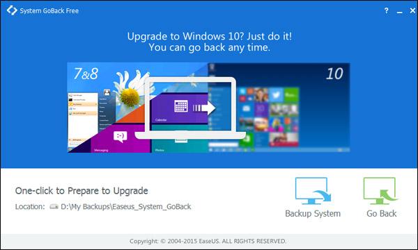 Cómo volver a una versión anterior de Windows si no te gusta Windows 10: System GoBack Free