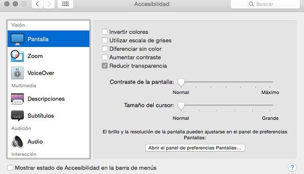 Reduce las transparencias y animaciones de tu Mac