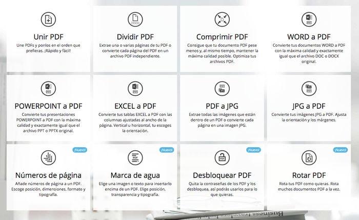 Si quieres a tus archivos PDF... no dejes de usar esta herramienta online: I Love PDF
