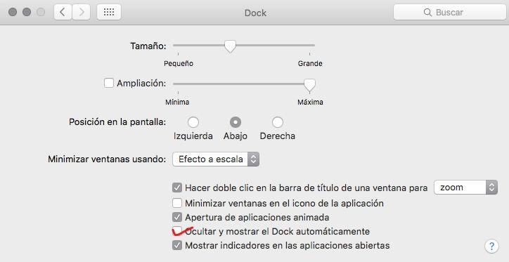 Cómo ocultar el Dock en OS X (Mac)