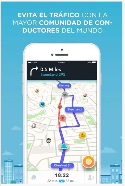 mejores aplicaciones para iOS (iPhone, iPad): Waze