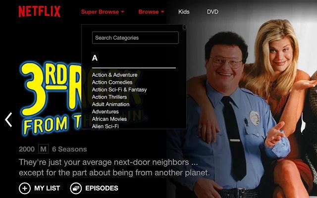 Cómo encontrar las categorías secretas de Netflix