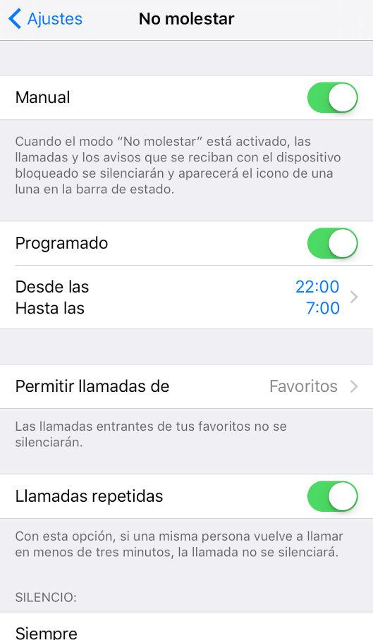"""Cómo usar la función """"No Molestar"""" en tu iPhone"""