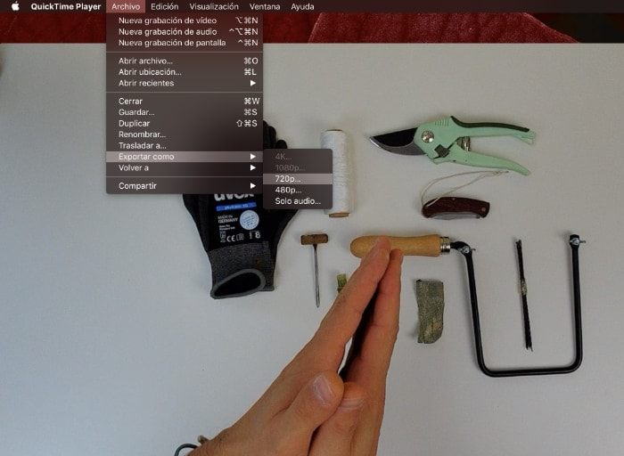 quicktime convertir videos en mac