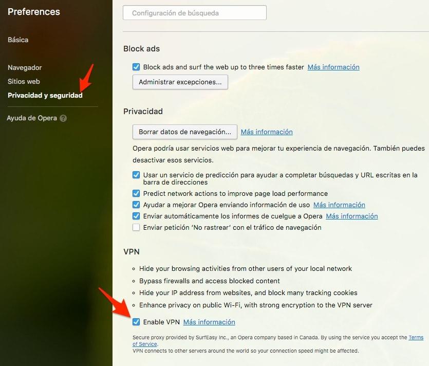 Opera es el primer navegador con VPN gratuito incorporado