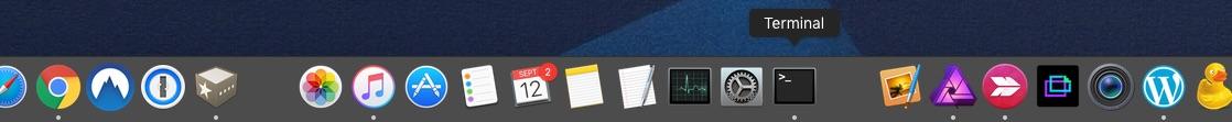 Ordenar el Dock de MAC con espacios en blanco