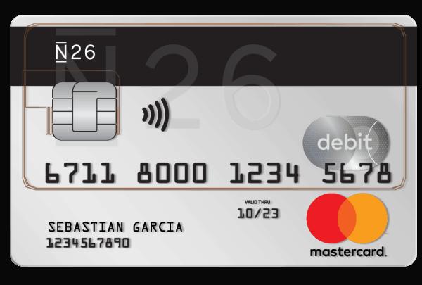 n26 banco online tarjetas