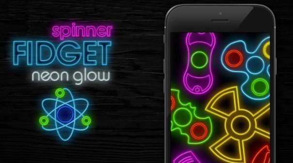 Fidget Spinner Neon Glow