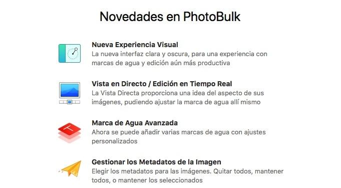 Novedades PhotoBulk