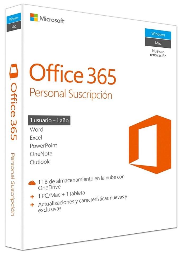 Microsoft Office 365 Personal 32/x64 - Paquetes De Ofimática, 32/x64, V2, 1 Año