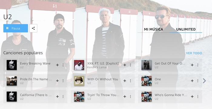 Amazon Music Unlimited U2