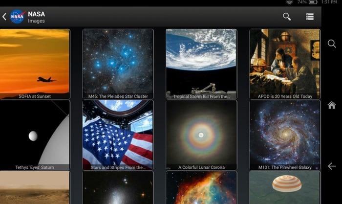 NASA fire TV