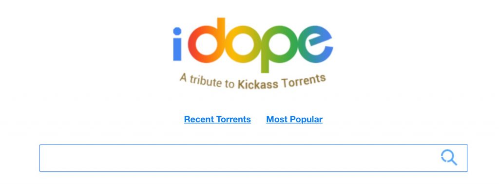 iDope torrent search engine