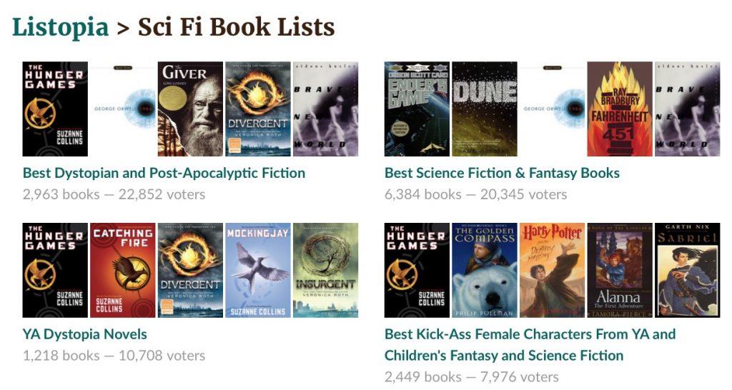 Libros de ciencia ficción recomendados en Goodreads