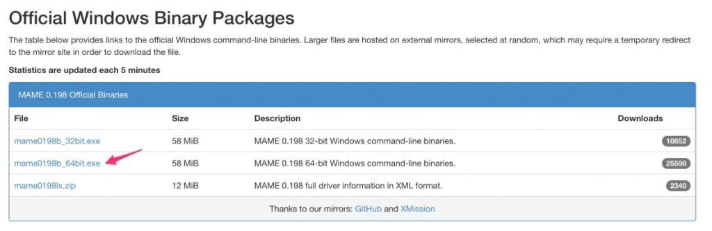Instalación MAME en PC