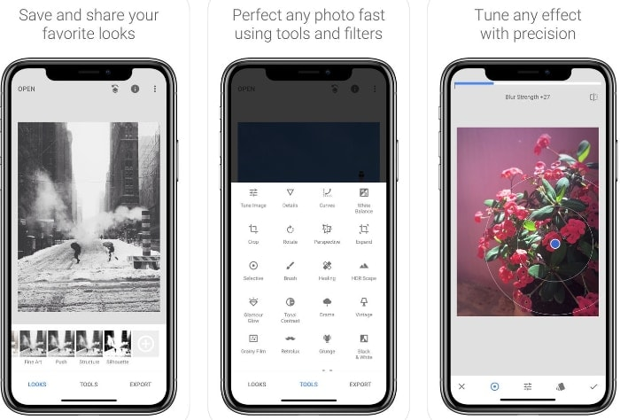 snapseed app iphone