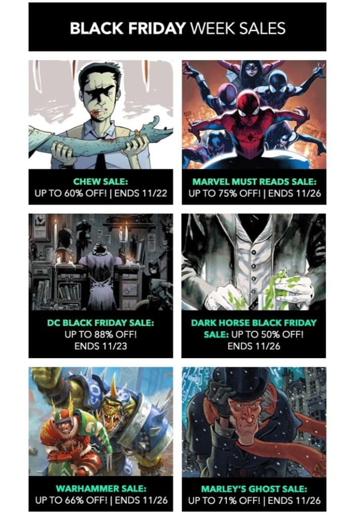 ComiXology: hasta 88% de descuento en determinados cómics en su tienda