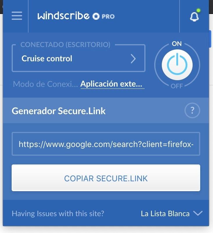 windscribe VPN extensiones