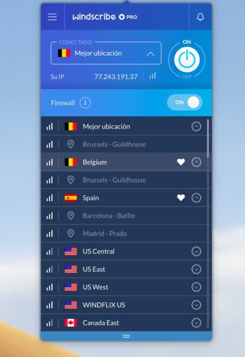 windscribe VPN app Mac