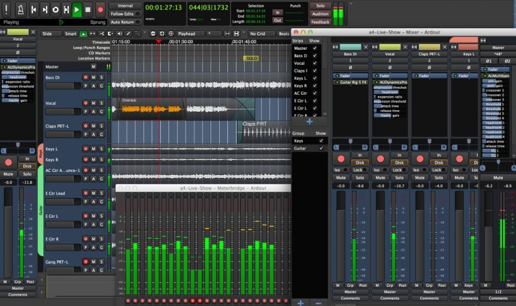 Programa para grabar y editar audio en Linux, MacOS o Windows: Ardour