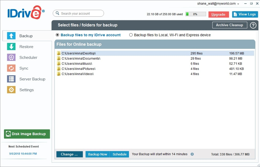 IDrive Cloud Backup