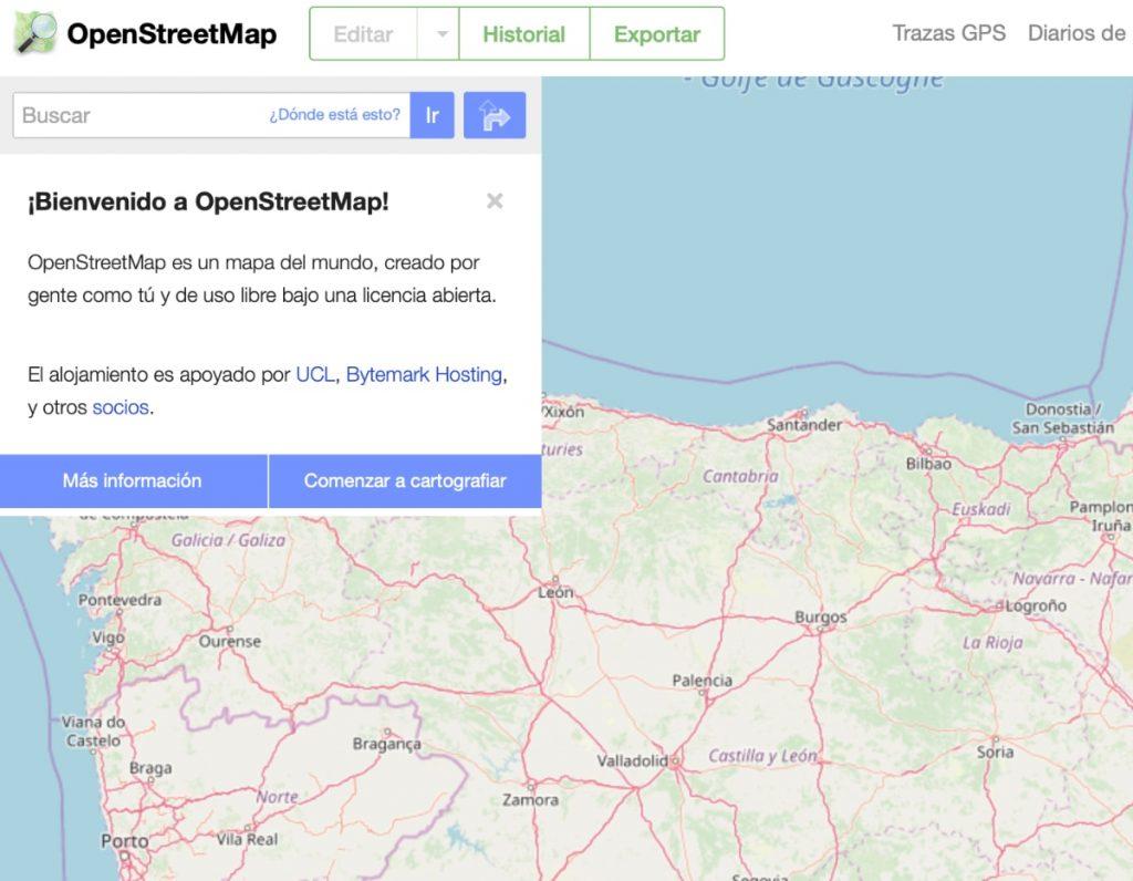 Alternativas a Google Maps: OpenStreetmap