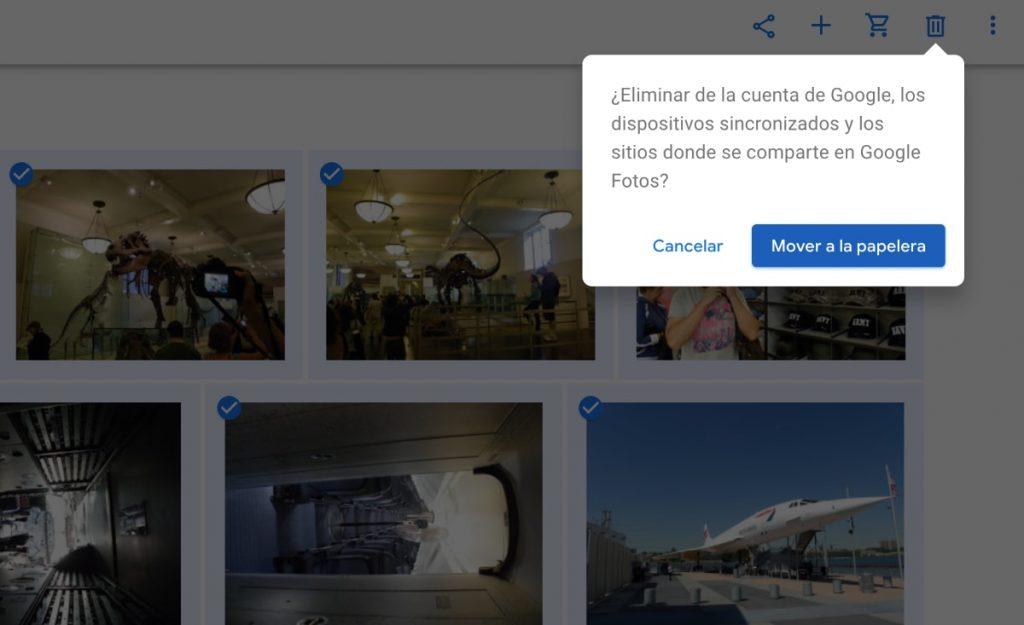 Borrar todas tus fotos de Google Fotos